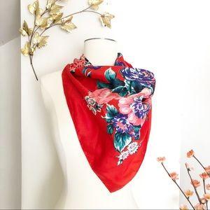 Vintage floral bandana scarf, romantic scarf wrap